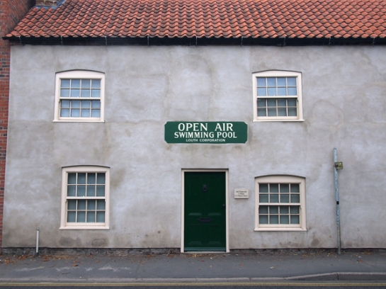 This restored building in Louth has had the original signage thoughtfully restored as well.