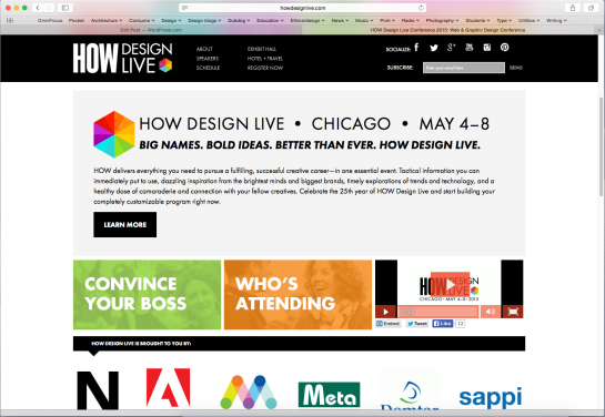 How Design Live Conference 2015. Design: unknown